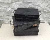 Vintage Metal Deed Document Boxes TWO Sizes and Styles Available