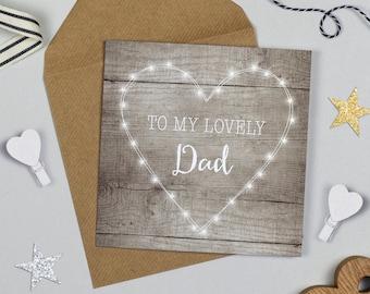 Fairy Lights Lovely Dad Birthday Card