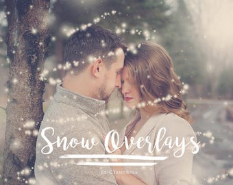 Snow Overlays for Photoshop, Snowflake Overlays, Magical Snow for Photoshop, Winter Overlays for Photographers