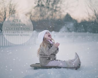Winter Photoshop Actions, CTR Winter Collection, Winter Inspired Actions, Winter Color for Photos, Crisp and Matte Actions - Set of 10