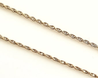"""15.5"""" delicate gold chain necklace"""