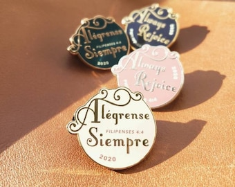 JW Pin / Always Rejoice / Alegrense Siempre / 2020 Jw Convention / Jw Gifts / Regional / Baptism Gift / Elder Gift / JW Pioneer