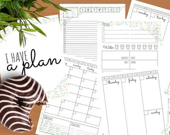 PRINTABLE PLANNER INSERTS | I have a plan Collection (Digital download)