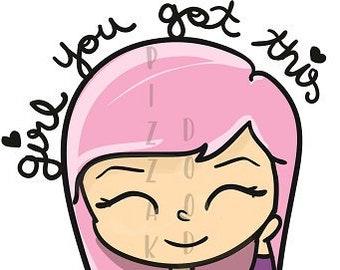 Girl you got this Vega Doodle
