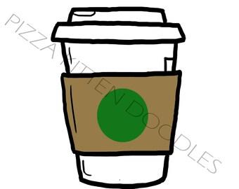 Coffee Doodle (Plain) - Hand Drawn Doodle Printable