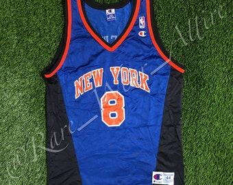 9410a85abd1 NBA Jersey New York Knicks Latrell Sprewell Champion Size 44 L Vintage Away  Blue