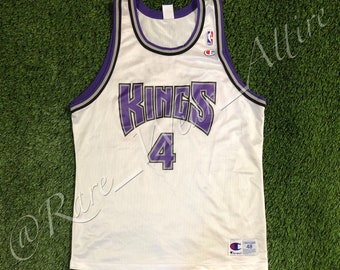 3320d61950f6 NBA Jersey Sacramento Kings Chris Webber Champion Size 48 XL Vintage  Throwback Home White