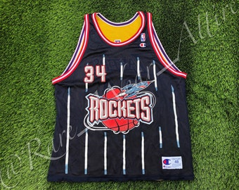 1ba50acb8a29 NBA Jersey Reversible Houston Rockets Hakeem Olajuwon   Los Angeles Lakers  Shaquille O neal Size 52 2XL RARE 90s Throwback