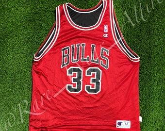 NBA Jersey Chicago Bulls Scottie Pippen Reversible Champion Size 48 Vintage  Rare Jordan 1b07585d2