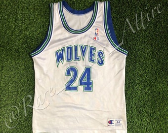 cd26fd1eb NBA Jersey Minnesota Timberwolves Tom Gugliotta Champion Size 44 Large Home  White