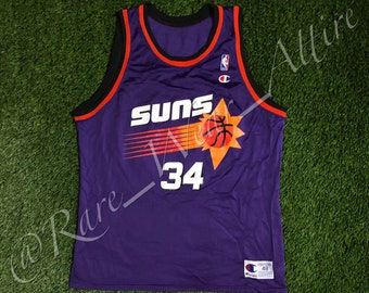 NBA Jersey Phoenix Suns Charles Barkley Size 48 XL Champion Vintage 90s  Away Purple 90s af443ed01