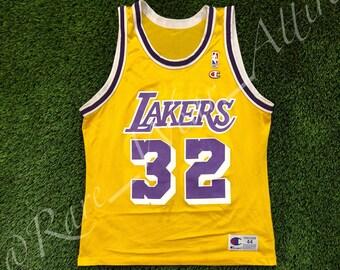 NBA Jersey Los Angeles Lakers Magic Johnson Size 48 XL VTG Kobe Shaq f728abf13
