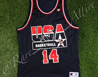 641cd329823a NBA Team USA Dream Team Jersey Alonzo Mourning Champion Size 48   XL  Vintage Olympics 1992 Charlotte Hornets Away