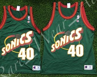 a99df0eb14d NBA Jersey Shawn Kemp Seattle Super Sonics Champion Size 40 Vintage Rare  Payton