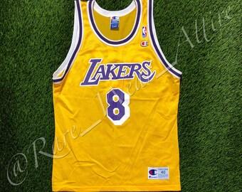 NBA Jersey Los Angeles Lakers Kobe Bryant Champion Size 40 Medium Yellow  Home fdb95e6fa86d