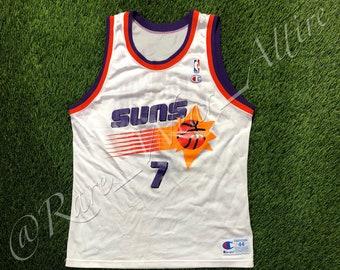 2a23c5cb0 NBA Jersey Phoenix Suns Kevin Johnson Champion Size 44 Home White Style 90s  Vintage