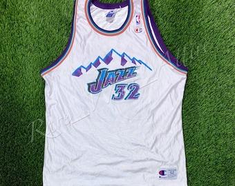 f1fea8d4 NBA Jersey Utah Jazz Karl Malone Champion Size 52 Vintage Throwback Home