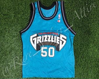NBA Jersey Vancouver Grizzlies Bryant Reeves Champion Size 40 Medium Vintage  Rare Memphis Canada fb43c6b3f