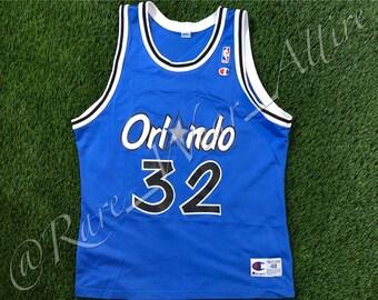8c3c8ed5be1 NBA Jersey Orlando Magic Shaquille O'neal Champion Size 48 Vintage 1995  Blue Hardaway Throwback Florida