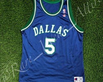 NBA Jersey Dallas Mavericks Jason Kidd Champion Size 48 XL Vintage Rare  Dirk Nowitzki 9fd0ca87f
