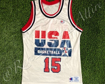 b895ebd03d66d NBA Team USA Dream Team Jersey Magic Johnson Champion Size 40 Medium Vintage  Olympics 1992 Los Angeles Lakers Bulls