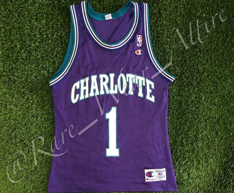 589dfe7b6 NBA Jersey Chalotte Hornets Mugsy Bogues Champion Size 40