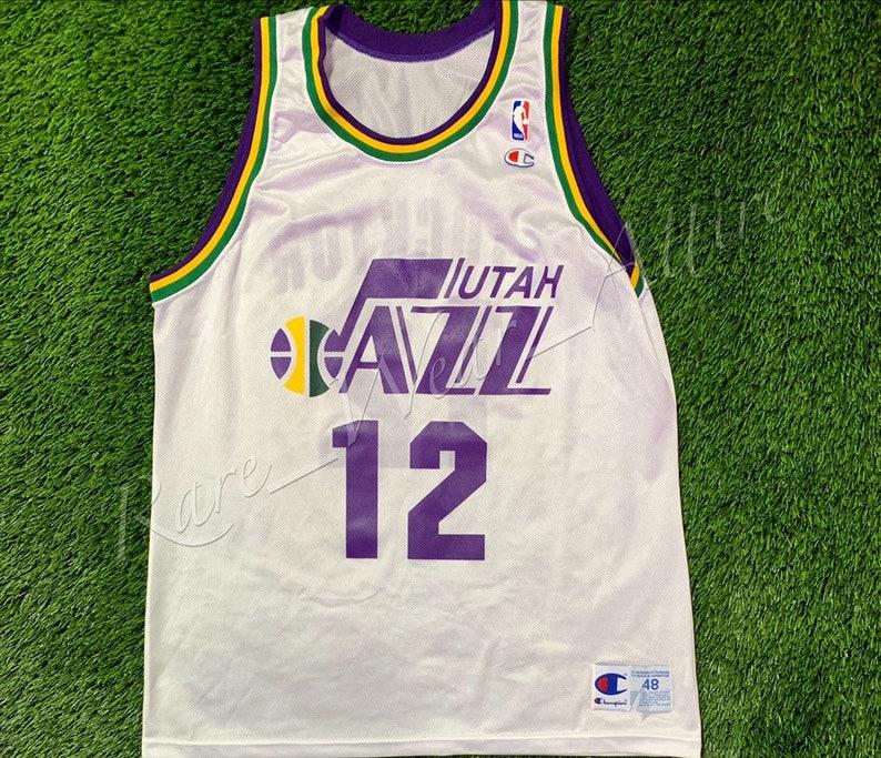 huge discount dcfcc 63f57 NBA Jersey Utah Jazz John Stockton Champion Size 48 XL Throwback Rare 90s