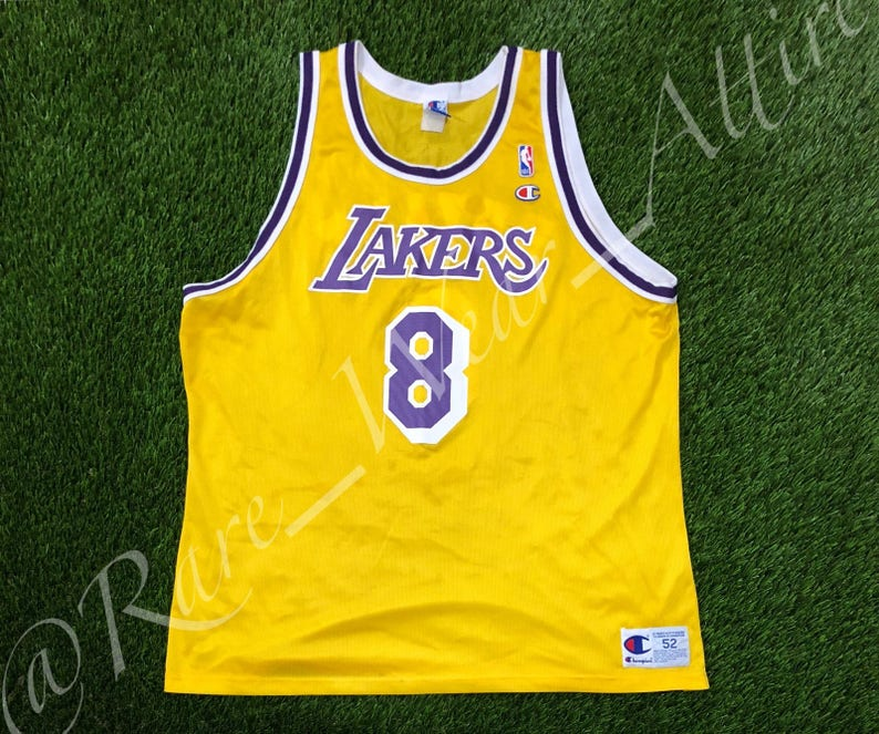 0cba31ca0c1 NBA Jersey Los Angeles Lakers Kobe Bryant Champion Size 52 2XL