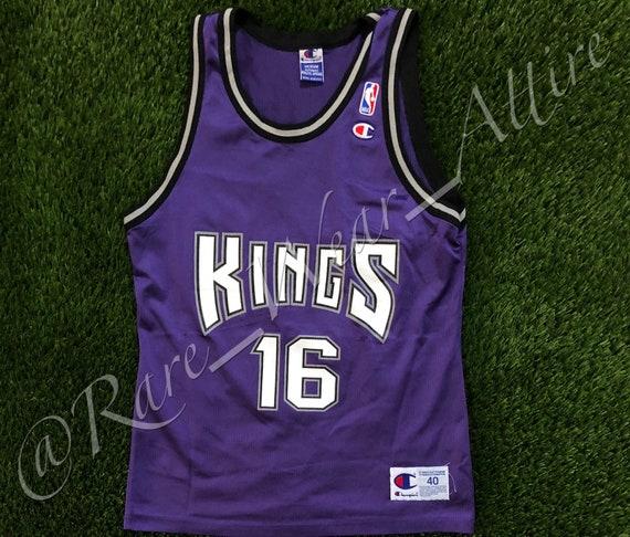 pick up 3289d 62936 NBA Jersey Sacramento Kings Peja Stojakovic Champion Size 40 Medium  Throwback Rare 90s