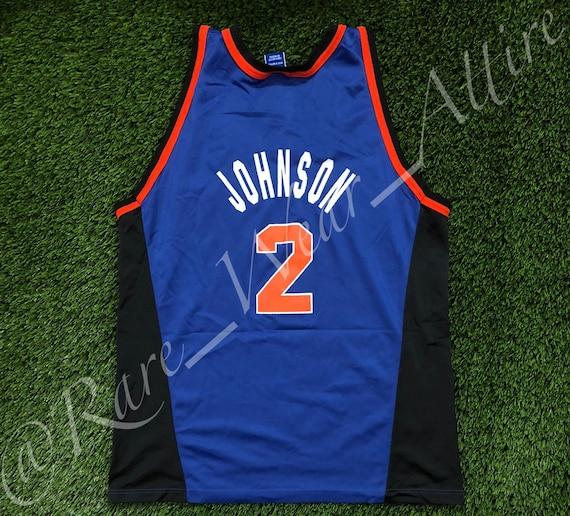 73350278b NBA Jersey New York Knicks Larry Johnson Chanpion Size 48 XL