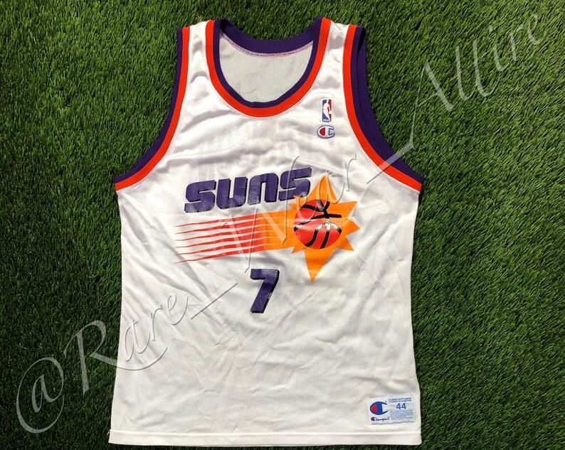 the latest ec032 12ad2 NBA Jersey Phoenix Suns Kevin Johnson Champion Size 44 Home White Style 90s  Vintage