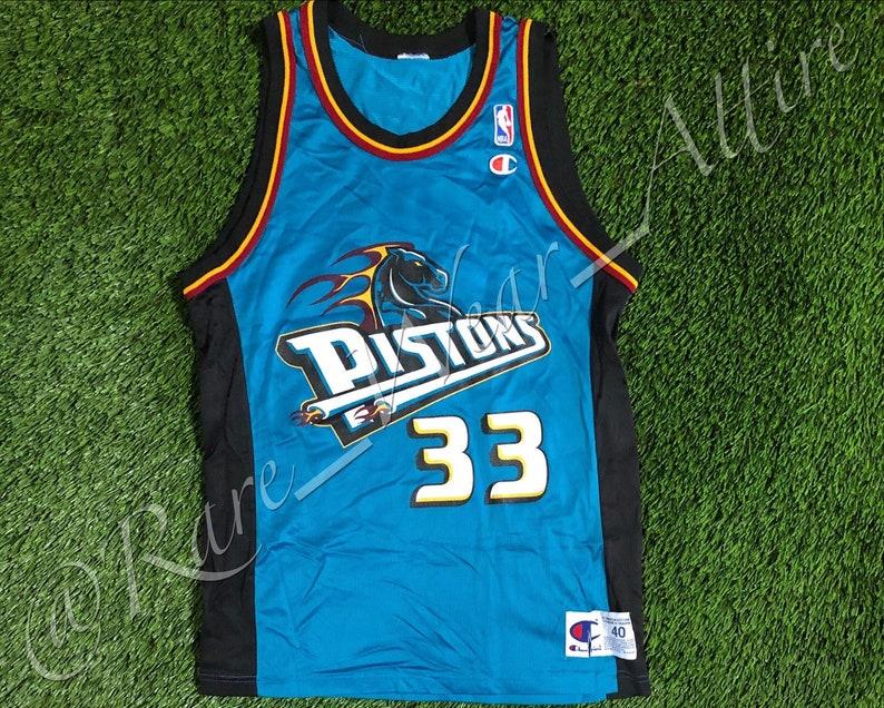 best service aac27 214f8 NBA Jersey Detroit Pistons Grant Hill Champion Size 40 Medium Vintage Rare  90s