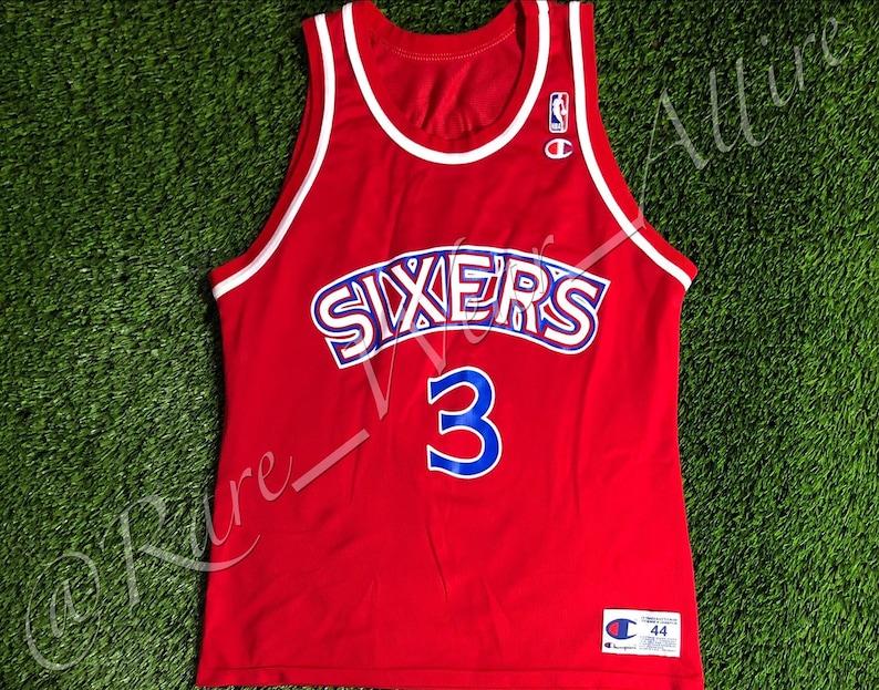 3ff1f59b156 NBA Jersey Philadelphia 76ers Sixers Allen Iverson Champion