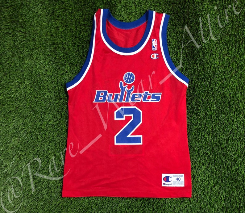 5cc30741e NBA Jersey Washington Wizards Chris Webber Champion Size 40 Medium Vintage  Rare ... NBA Jersey Washington Wizards Chris Webber Champion Size 40 Medium  ...