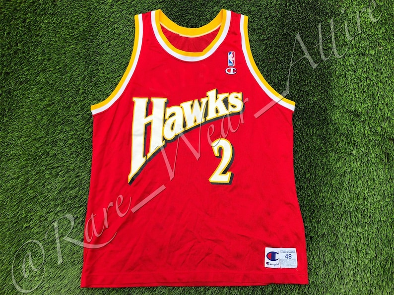 9b9ba0abfb29 NBA Jersey Atlanta Hawks Stacey Augmon Champion Authentic Size