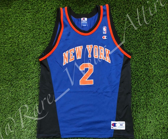 pretty nice 0d197 d450d NBA Jersey New York Knicks Larry Johnson Chanpion Size 48 XL Vintage