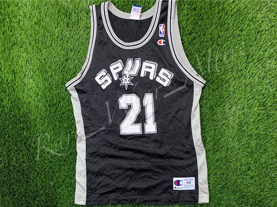 sports shoes d43df 569d6 NBA Jersey San Antonio Spurs Tim Duncan Champion Size 44 Away Vintage  Throwback