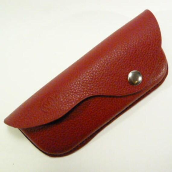 36ef9417c9d782 Etui lunettes rigide cuir rouge grenat cadeau senior   Etsy