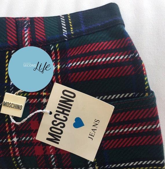 MOSCHINO JEANS _ pantaloni in tartan _ tartan trou