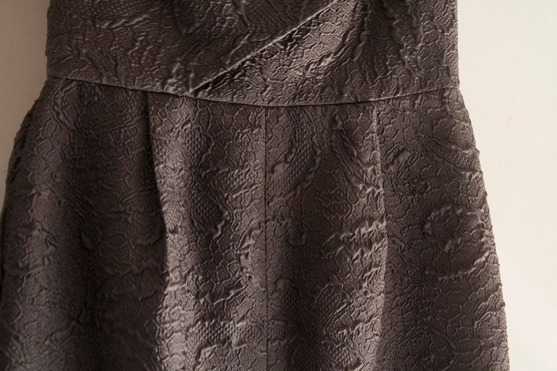gray cocktail dress Fancy suit Grey americato size S elegant cross dress