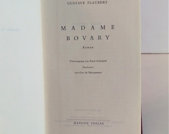 Madame Bovary, Gustave Flaubert, in German, Hardcover, Small, Publisher Manesse Verlag, 1952