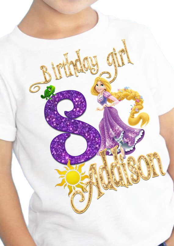 Tangled Birthday Shirt Rapunzel