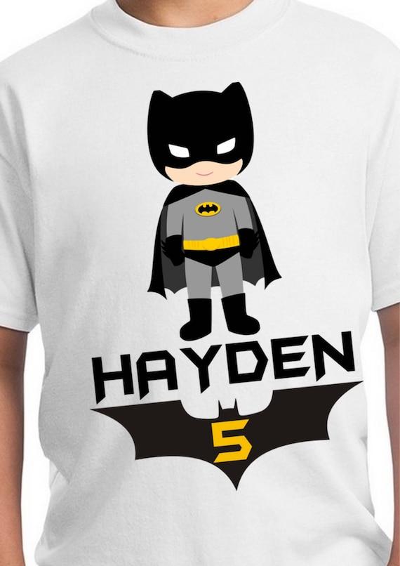 Batman Birthday Shirt Party