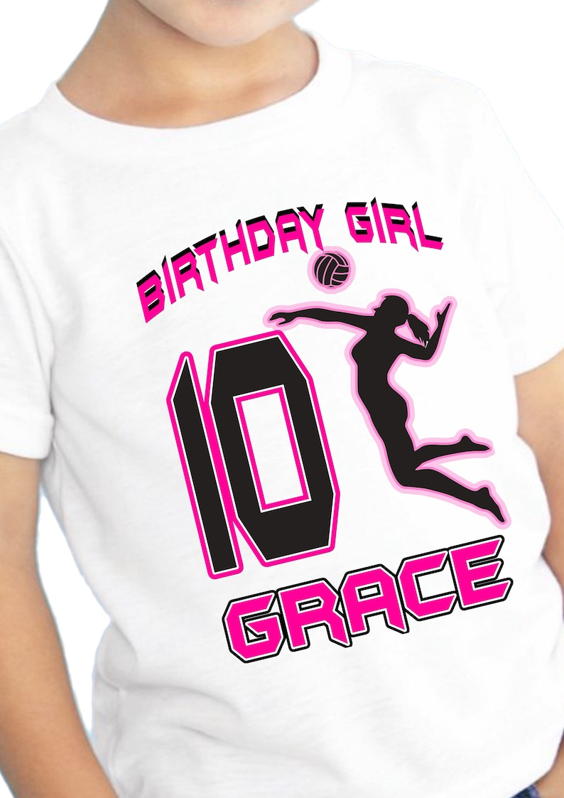 Volleyball Birthday Shirt Volleyball Party Supplies Etsy