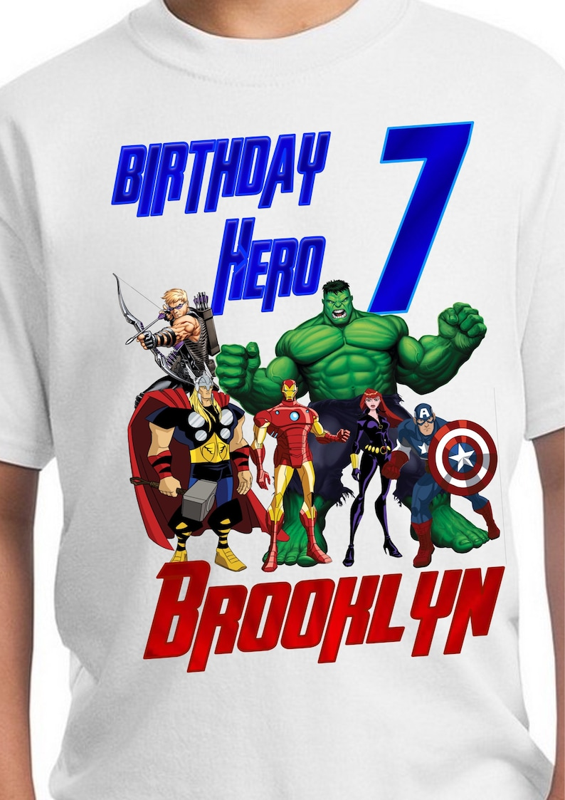Avengers Hulk Personalized Birthday T-Shirt Party Favor