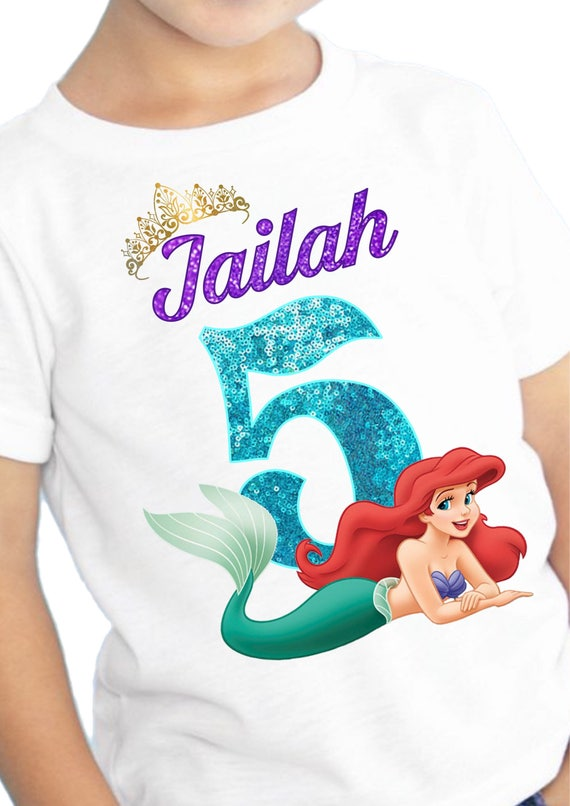 Ariel Birthday Shirt Party Supplies