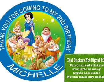 Snow White Stickers/Princess Stickers/Snow White Labels/Snow White/Snow White Shirt/Snow White Banner/Snow White Party