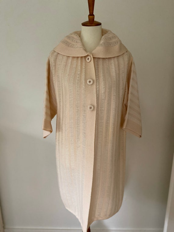 Vintage cape // light pink with hood - image 1