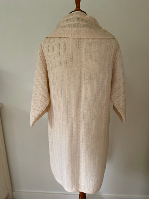 Vintage cape // light pink with hood - image 4