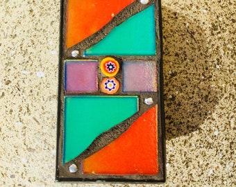 Iridescent Mosaic Pendant